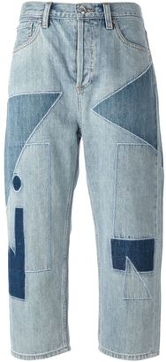 Marc By Marc Jacobs patchwork cropped jeans $511.68 thestylecure.com