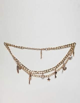Charm & Chain Asos Design ASOS DESIGN charm chain belt