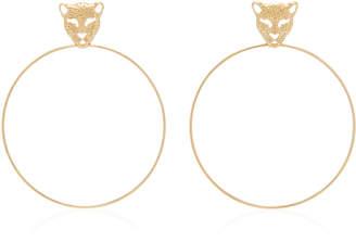 Donna Hourani 18K Gold Leopard Earrings