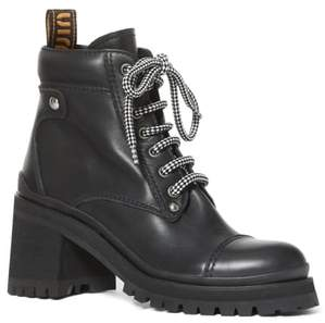 Miu Miu Lugged Sole Combat Boot