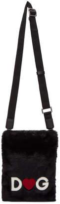 Dolce & Gabbana Black Fuzzy Crossbody Bag