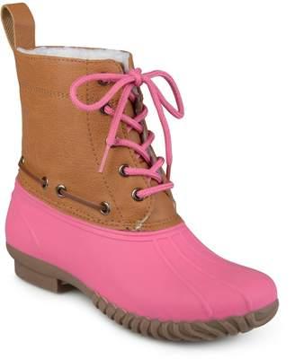 Journee Collection Matilda Girls' Water Resistant Winter Duck Boots