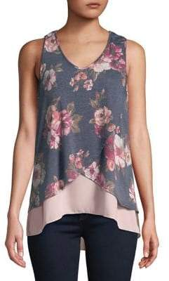 Lord & Taylor Design Lab Floral Tank Top