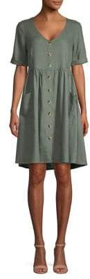 Vero Moda Short-Sleeve Mini Button-Front Dress