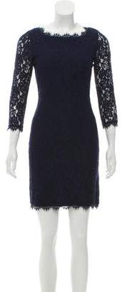 Diane von Furstenberg Zarita Floral Lace Mini Dress