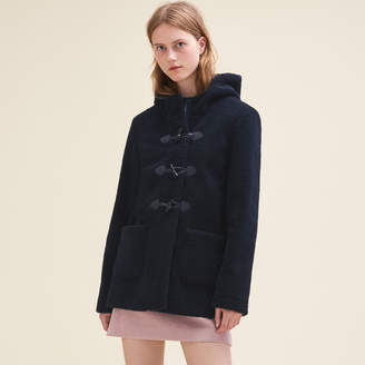Maje Faux fur duffle coat