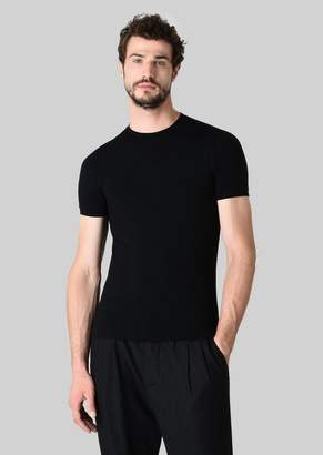 Giorgio Armani Stretch Jersey Crew Neck T-Shirt