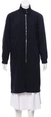 Dries Van Noten Twill Zip-Up Coat