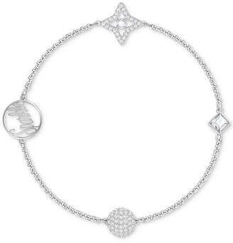 Swarovski Remix Collection Silver-Tone Crystal Star & Orb Magnetic Bracelet