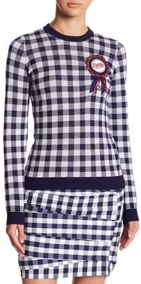 Love Moschino Maglia Gingham Sweater