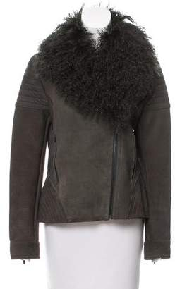 Zac Posen Shearling-Accented Suede Jacket w/ Tags