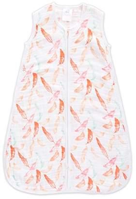 Aden Anais 100% Light Cotton Muslin Sleeping Bag, 1 Tog, 18 Months, Petal Bloom