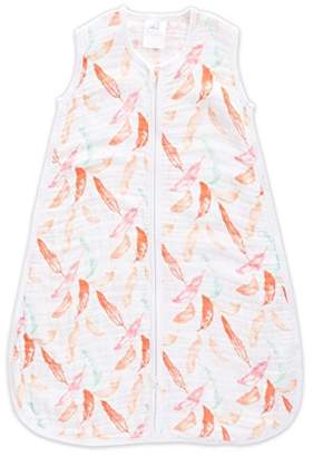 Aden Anais Aden + Anais 1.0 TOG Sleeping Bag, 100% Cotton Muslin, Petal Bloom, 18m