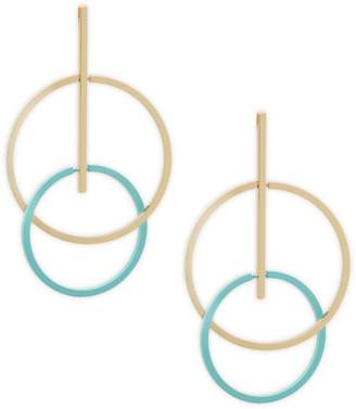 Natasha Double Circle Drop Earrings
