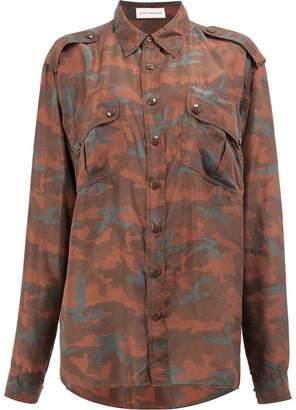 Faith Connexion camouflage print shirt