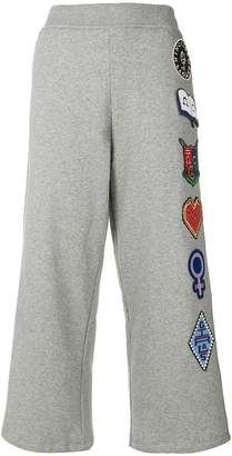 Opening Ceremony Sorority-patch flared trousers
