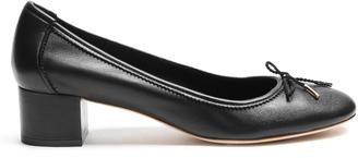 SALVATORE FERRAGAMO Enea leather pumps $296 thestylecure.com