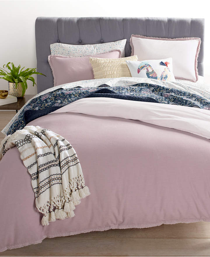 Martha Stewart Collection Whim by Martha Stewart Collection Cotton Linen Mauve 2-Pc. Twin Comforter Set, Created for Macy's Bedding