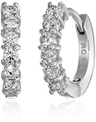 Roberto Coin Perfect Diamond 18k Gold Huggy Hoop Earrings (5/8cttw