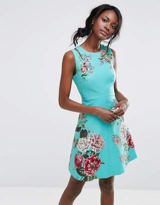 Oasis Royal Worcester Floral Print Skater Dress $103 thestylecure.com