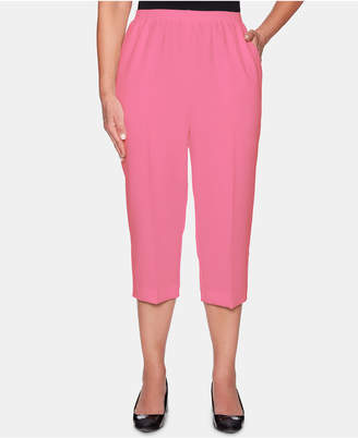 Alfred Dunner Classics Cropped Pull-On Pants