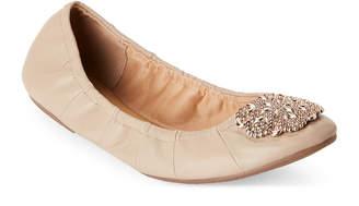 Tahari Jute Valerie Embellished Ballet Flats