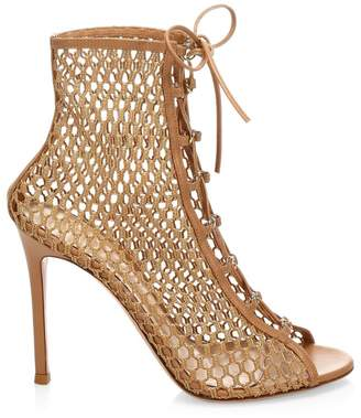 Gianvito Rossi Heeled Lace-Up Leather Booties