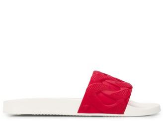 Versace textured flip flops