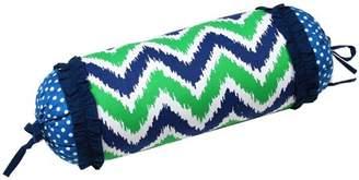 Bacati MixNMatch Navy/Green Zigzag Neck roll