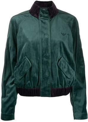 Emporio Armani color-block bomber jacket