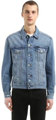 Calvin Klein Jeans Distressed Cotton Denim Trucker Jacket