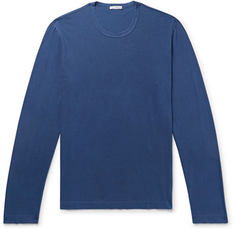 James Perse Combed Cotton Jersey T-Shirt - Men - Blue