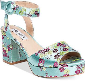 Steve Madden Women's Tickle Two-Piece Platform Sandals $99 thestylecure.com