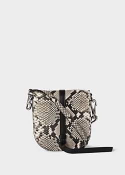 82e4e4428 Women's White Snake-Effect Flap Leather Cross-Body Bag
