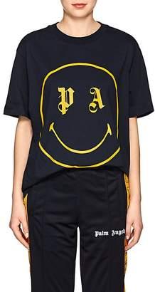 Palm Angels Women's Smiley-Face Cotton T-Shirt