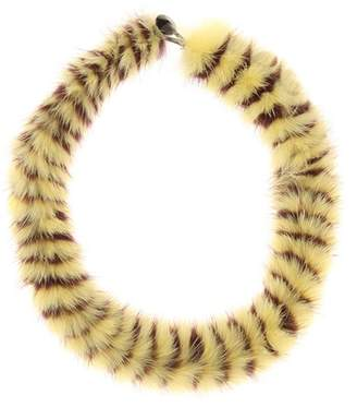 Twisted fur choker