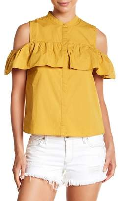 Lucky Brand Cold Shoulder Ruffle Blouse