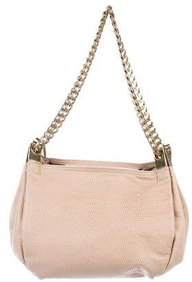 Lanvin Embossed Leather Shoulder Bag Pink Embossed Leather Shoulder Bag