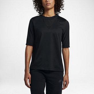 Nike Sportswear Bonded Women's Half Sleeve Top $70 thestylecure.com