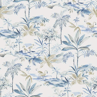 Brewster Home Fashions Seaside Living Lagoon 33' x 20.5 Watercolor Wallpaper Roll