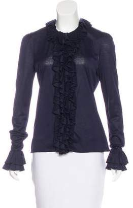 Ralph Lauren Ruffle Long-Sleeve Top