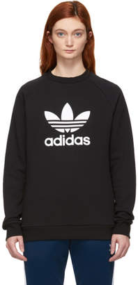 adidas Black Trefoil Warm-Up Sweatshirt
