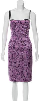 Dolce & Gabbana Silk Printed Dress Purple Silk Printed Dress