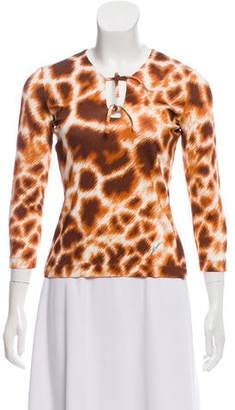 Just Cavalli Long Sleeve Printed Top w/ Tags