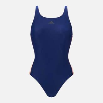 adidas Women's Essential 3 Stripe 1 Piece Swimsuit