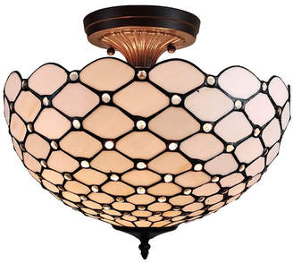 Tiffany & Co. Amora Lighting Style 2-Light Jeweled Pendant Lamp