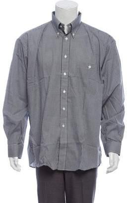 Burberry Gingham Button-Up Shirt