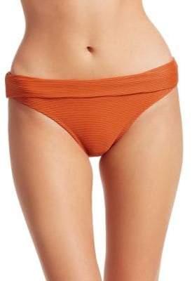 Heidi Klein Ribbed Foldover Bikini Bottoms
