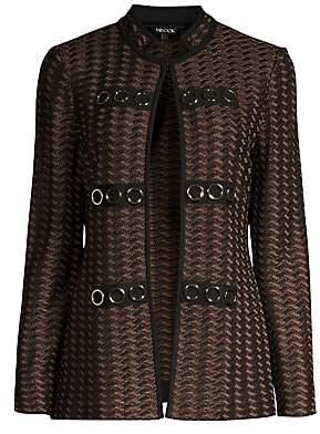 Misook Women's Heritage-Fit Grommet Detail Jacket