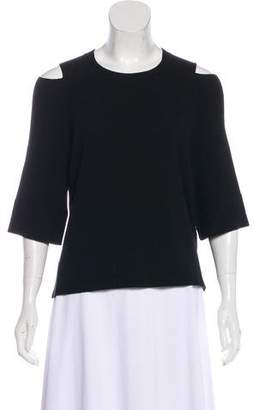 Soyer Cutout Three-Quarter Sleeve Top